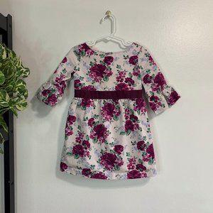 Janie & Jack Floral Print Dress Size 3